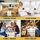 Sxuan Tischläufer 180x35cm, Waschbar Tischdekoration aus Baumwollgewebe mit Quasten für Esszimmer Outdoor Urlaub Party Dekoration, Beige - 6
