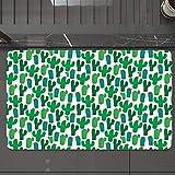 Alfombrilla de Baño Antideslizantes de 50X80 cm,Exótico, vibrante Cactus San Pedro Follaje C, Tapete para el Piso Lavable a Máquina con Microfibras Suaves Absorbentes de Agua para Bañera, Ducha y Baño