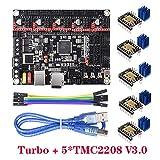 BIGTREETECH Direct SKR V1.4 Turbo Control Board + 5pcsTMC2208 V3.0 UART Mode Driver 3D Printer Parts with LPC1769-120MHz Frequency VS SKR V1.3 / V1.4