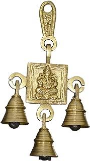 Exotic India Ganesha Bell Brass Statue, 6.5