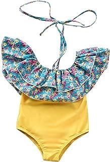 Toddler Baby Girls Floral Bikini One-Piece Swimwear Headband Beachwear Set