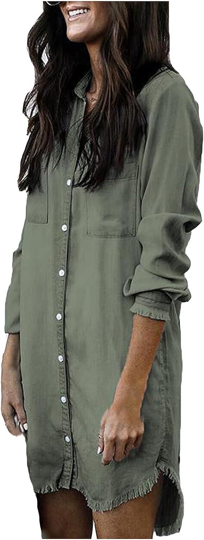 Light Jackets for Women,Women's Buttons Lapel Casual Coats New Trend Fashion Full-Sleeve Autumn Ladies Long Tassel Denim Tops