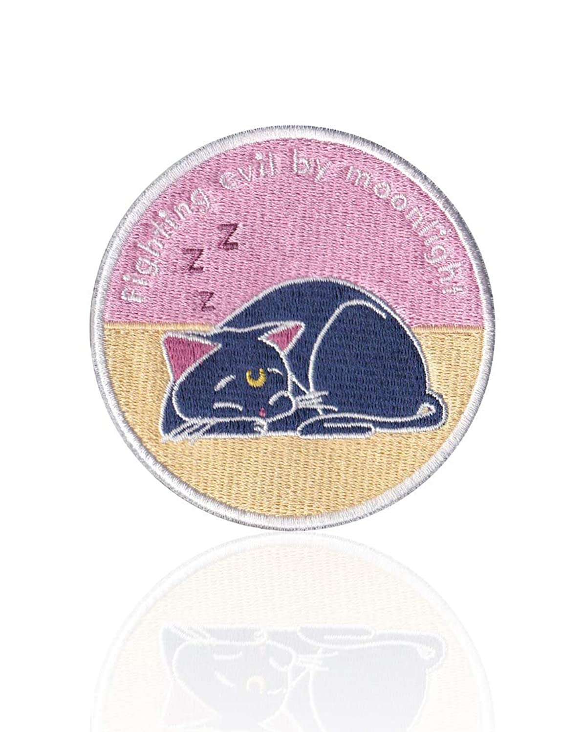 Luna Cat Patch Iron on & Sew on Embroidered Applique Decoration DIY Craft for Tshirts, Denim Jackets, Hats, Bags