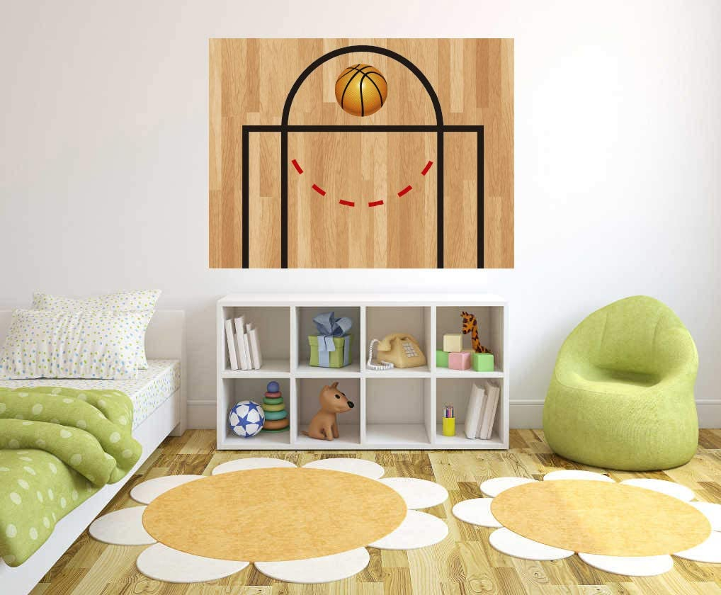 Basketball Half Court Diagram with Sport low-pricing - Las Vegas Mall Decal Wall Baske Ball
