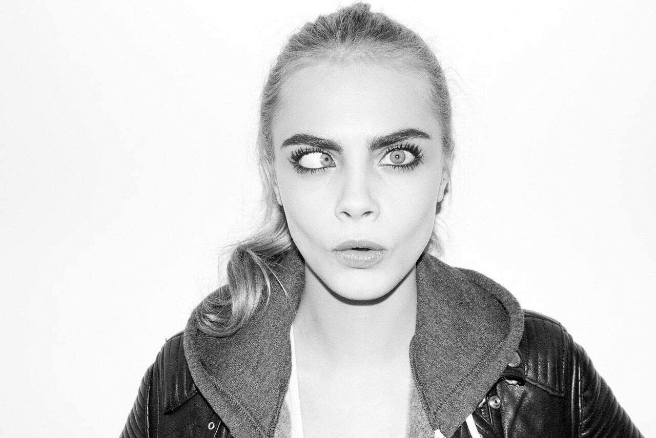 bucraft Don't miss the campaign Cara Delevingne Funny 8x10 Photo Eyes discount Print