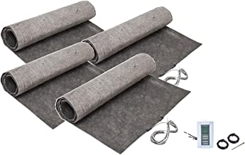 144 sq. ft. ThermoFloor Laminate Floor Heating Kit: (4) 3x12 ft. mat, (1) TH114 Manual Thermostat