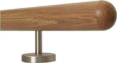 Eiche Gel/änder Handlauf Set Bausatz mit gewinkelte Halter verschiedene Endst/ücke Enden =Edelstahlbogen L/änge 30-500 cm aus einem St/ück//zum Beispiel L/änge 330 cm mit 4 Halter