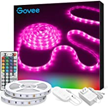 Govee LED Strip Lights, 32.8FT RGB LED Lights with Remote Control, 20 Colors and DIY Mode Color Changing LED Lights, Easy Installation Light Strip for Bedroom, Ceiling, Kitchen (2x16.4FT)