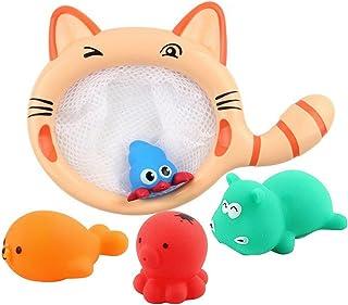 NUOLUX Kids Bathtime Fun Toys with Fishing Net