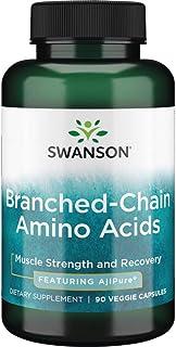 Swanson Ajipure Branched-Chain Amino Acids Pharmaceutical Grade 90 Veg Capsules