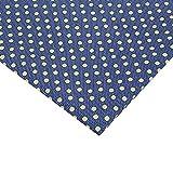 Hongma Polyester Stoff Denim Punkt Muster 50x150CM Blau