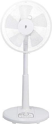 【www.z328y.cn限定】山善 扇風機 30cm リビング扇 押しボタンスイッチ 風量調節3段階 タイマー機能付き ホワイト AMT-KC30(W)