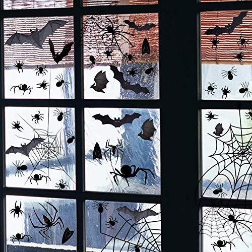 HALOVIE Set di 3 Decorazioni per Halloween Runner Tavola, Halloween Adesivi Ragnatela, Sciarpa per Camino, Halloween Decorazioni per Casa Festa