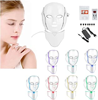 7 kleuren foton led masker gezicht nek anti rimpel acne verwijdering huidverjonging machine foton masker(Europese regelgev...