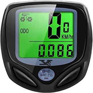 Y&S YS Cuenta Km Inalámbrico Impermeable Cuentakilómetros para Bicicleta ,Auto Despierta,Velocimetro Bicicleta HD De Pantalla LCD con Retroiluminación,Muti-Funcion para Bici De Montaña (Type B)