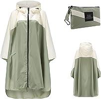 Freiesoldaten Women Waterproof Rain Poncho Stylish Reusable Lightweight Outdoor Raincoats Rain Jacket with Hood