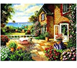 Diy Pintura Al Regalo De Decoración Arte De La Para Sala De 40X50Cm Paisaje Costero Del Patio Pintura Digital Principiante Bricolaje Y Herramientas