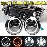 Pair LED Headlights for Chevrolet C10 (1973 1974 1975 1976 1977) - 7 Inch Round Sealed Beam Lighting Cars/Trucks Headlamp Conversion Kit