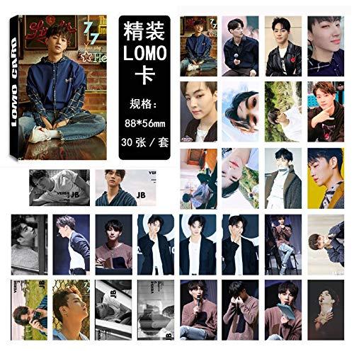 30pcs/Set K pop GOT7 photocard JB Single 04 Fashion GOT7 Album Photo Card Stationery Set Promotion