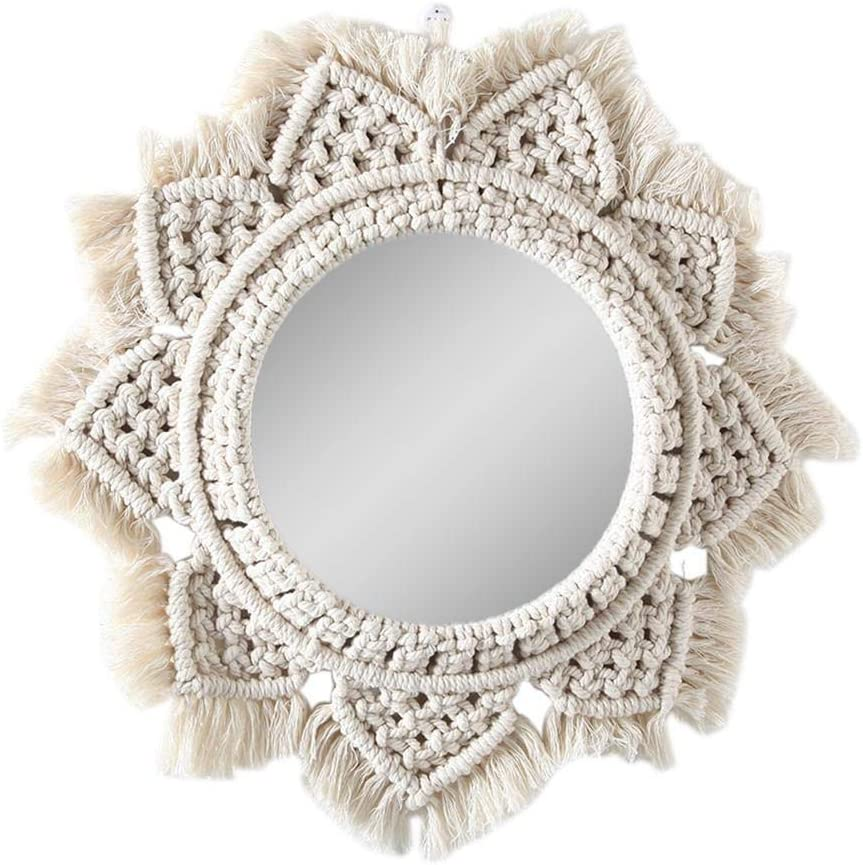 SALENEW very popular! Wall Mirrors Max 61% OFF Bohemian Hanging Round Makeup Decorative