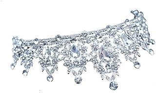 YNYA Tiare Sposa Crown Princess Crown Gioielli da Sposa Strass Crystal Hair Accessories Wedding Set Accessori Regali di Nozze