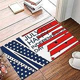 TIANTURNM Día de la Independencia de Julio 4 de Julio Felpudo...
