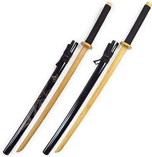 MEZONSIN 居合練習刀DX(模造刀)剣術 練習 舞台道具 剣道 武道 鍛練 太刀 長さ:105CM 重:0.5KG 竹製 付刀置き