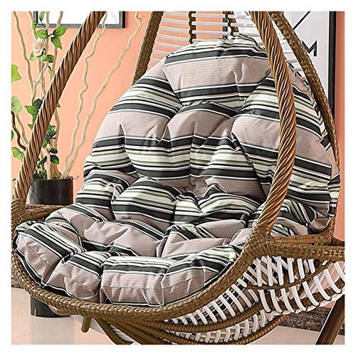 HLZY Outdoor Cushions for Patio Chairs Swing Cushion Without Brackets Thickening Chair Seat Cushions Washable Household Hanging Egg Chair Mats (Only Sell Cushions) Deck Chair Cushions