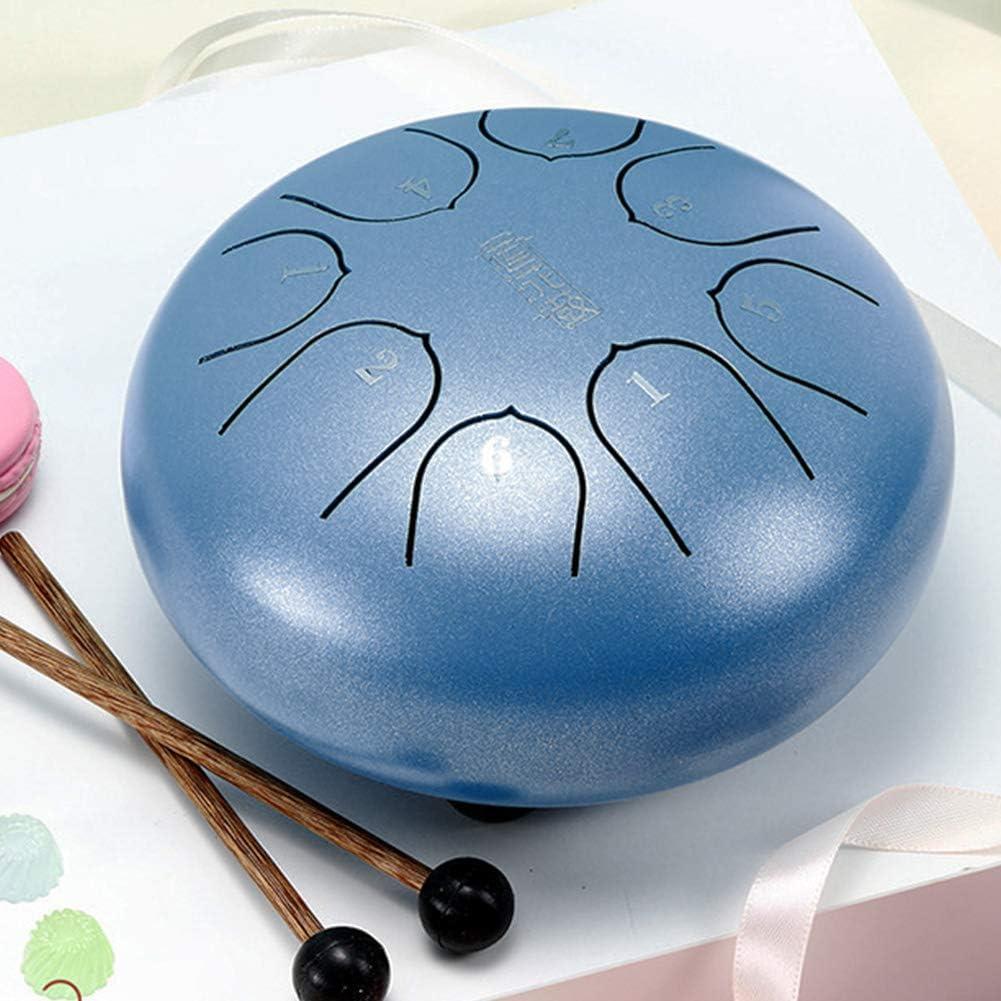 Steel Tongue Drum 6 Inche 8 Notes C-Key Portable Lotus Hand Pan Drum Kit w//Mallets /& Bag for Children Music Education Mind Healing Yoga Meditation