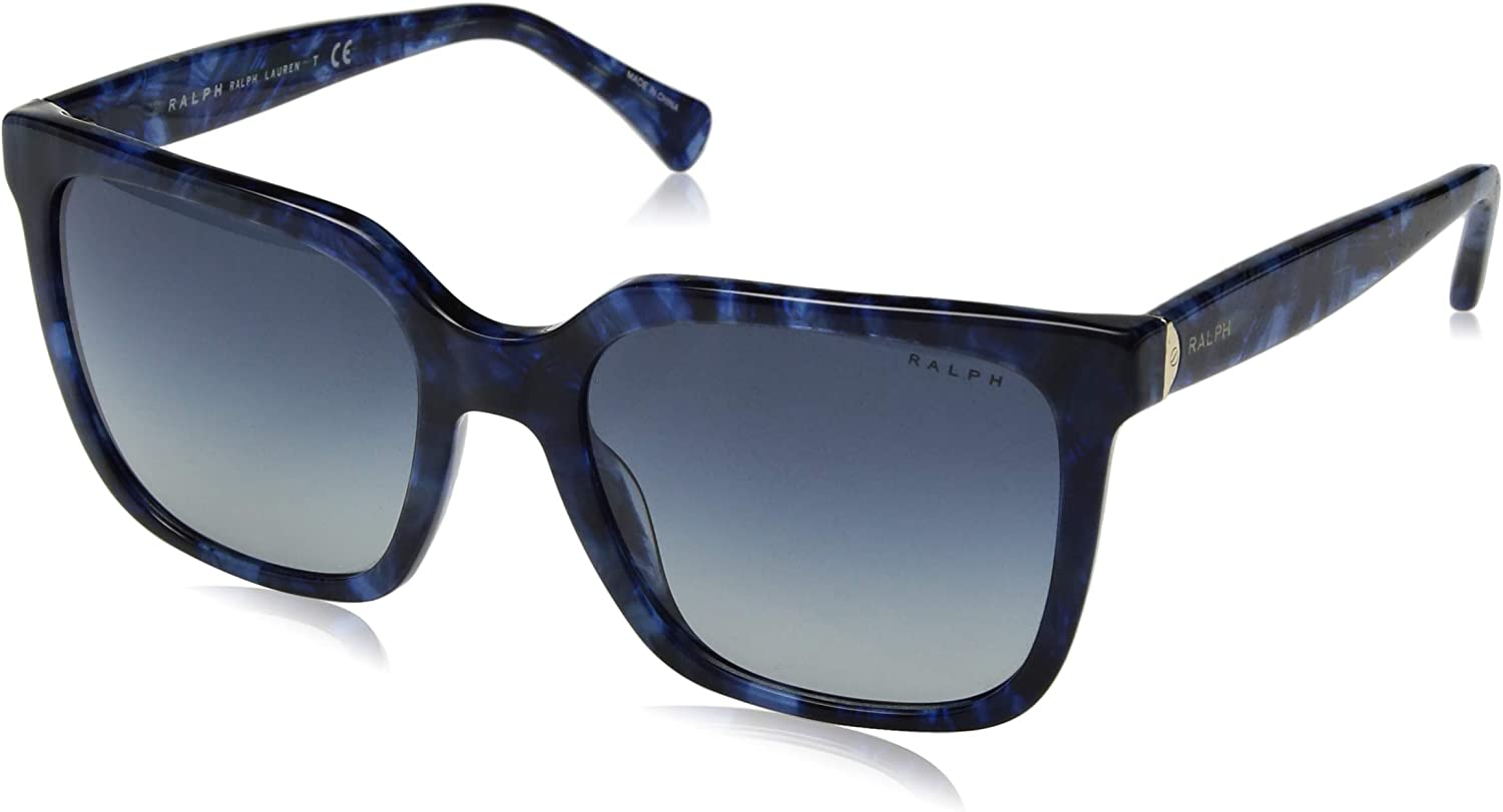 Ralph by Ralph Lauren Women's 0ra5251 Square Sunglasses bluee murble 57.0 mm