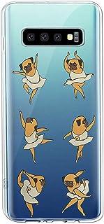 Oihxse Transparente Funda para Samsung Galaxy S11 Plus Ultrafina Silicona Suave TPU Carcasa Interesante Perro Patrón Flexible Protectora Estuche Antigolpes Anti-Choque (A8)