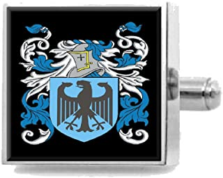 Clithero England Heraldry Crest Sterling Silver Cufflinks Engraved Box
