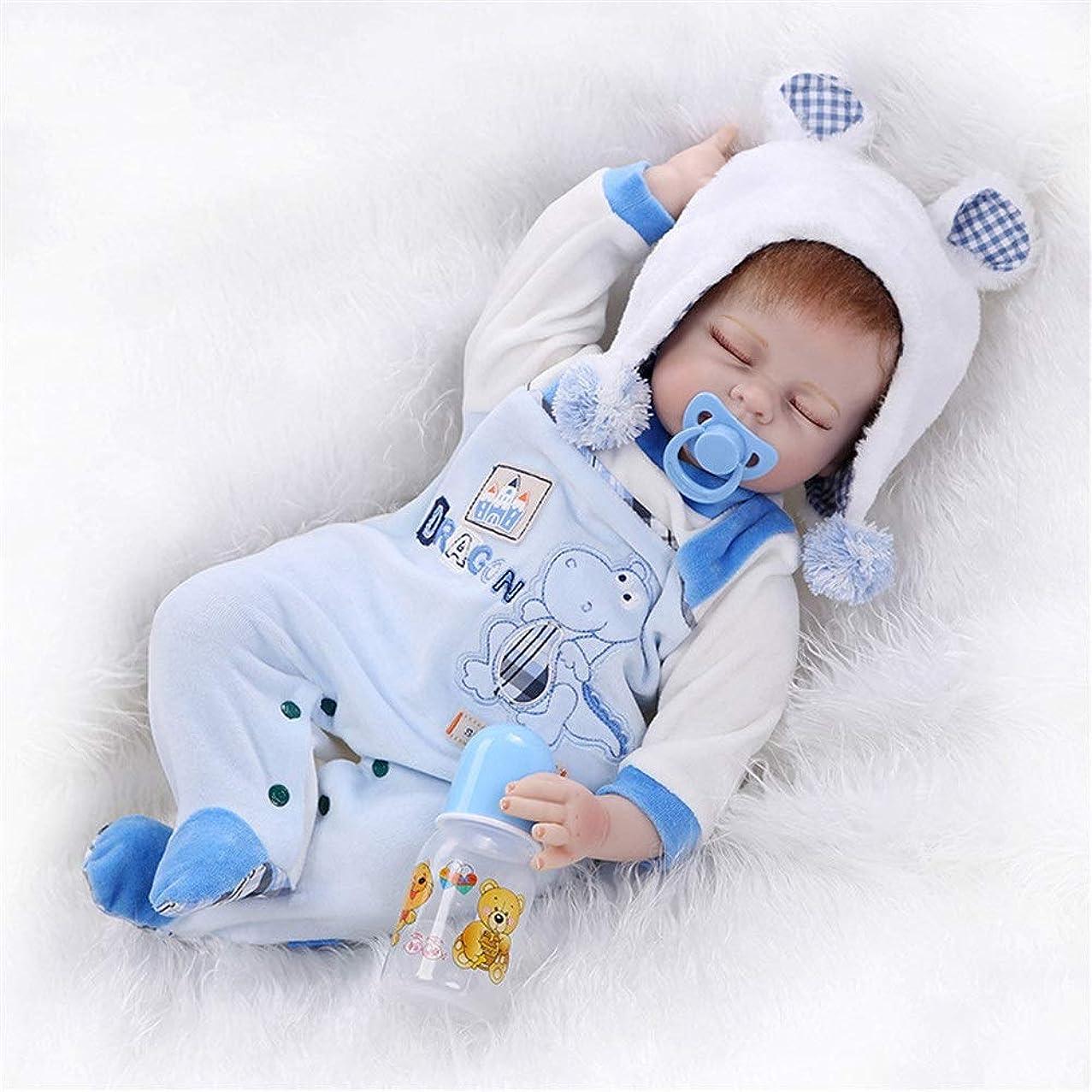 とにかく練習したに向かって手作りソフビシリコーン実生活リボーン赤ちゃんの人形のおもちゃ55センチメートルリボーンドール リアルなおもちゃ (Color : Photo Color, Size : 55cm)