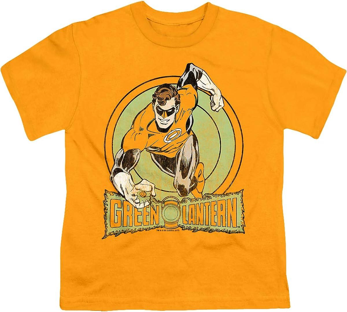 DC Green Lantern Unisex Youth T Shirt, Gold, Large