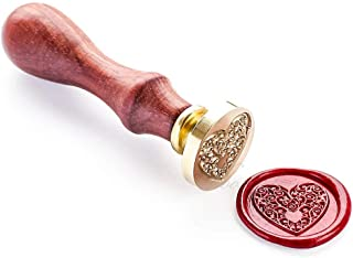 (Seal stamp(wood handle)) - Vooseyhome The Heart Wax Seal Stamp with Rosewood Handle