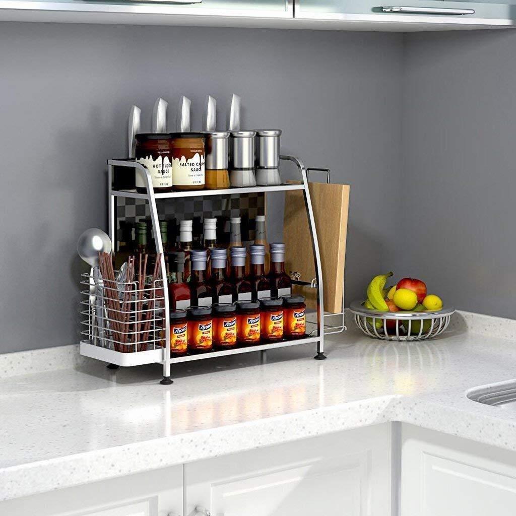 Multifuncional Estante del Refrigerador Blanco para Frigor/íficos y Superficies de Metal Gwotfy Estante magn/ético para Especias Refrigerador Organizador de Cocina Nevera magn/ética
