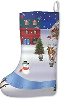 Unicorns Farting Large Christmas Snow Scene-01 Christmas Stockings Mantel Decorations Ornaments for Family Holiday Party Decorations