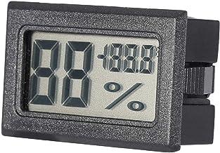 Hopcd Termómetro de Pantalla LCD Grande con Reloj Despertador Termómetro de Humedad para Invernadero(Black)