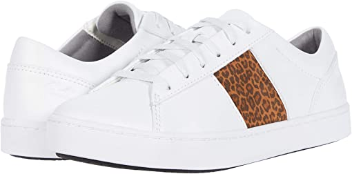 White Leather/Leopard Combi