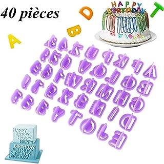 40pcs Alphabet Moule Lettre Fondant Moule Glaçage Cookie Nombre gâteau moule NEUF