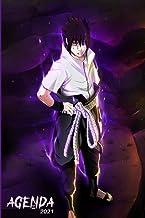 AGENDA Sasuke 2021: Naruto couverture pour Garçon et fille   Agenda Scolaire Journalier et semainier 2021, 12 mois de janv...