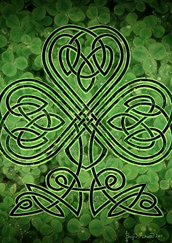Toland Home Garden 1112459 Celtic Shamrock 12.5 x 18 Inch Decorative, Garden Flag (12.5' x 18')