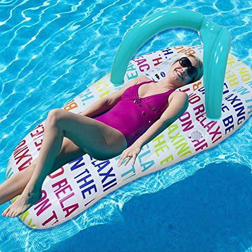 Schwimmen Ring Airbetten Wasser Hausschuhe schwebende Reihenflocken Schwimmboden Mode Hausschuhe Wasser Aufblasbar WTZ012