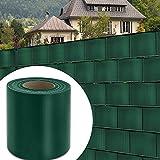 wolketon PVC Sichtschutz 65M x 19cm Sichtschutzfolie 450 g/㎡ Windschutz Stabmattenzaun Gartenzaun Blickdicht