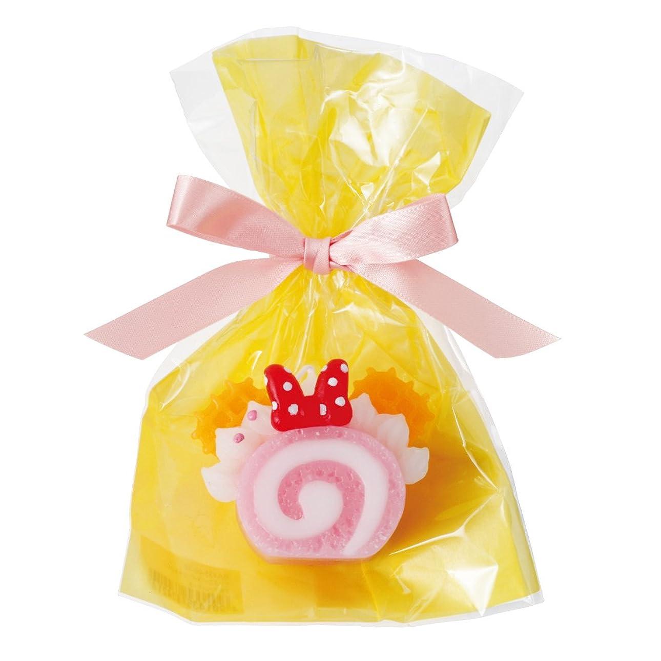 部分的送る挑発するディズニースイーツキャンドル 「 ピンクロールケーキ 」
