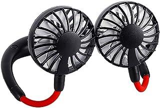 Guoda Ventilador Pequeño-Mini Ventilador Ventilateur USB | Abanico Manos Libres para El Cuello | Ajuste Libre De 360 ° | Viento De 3 Cuadras | con Caja De Aroma Ventiladores (Color : Black)