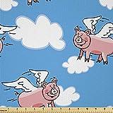 Lunarable Schwein Stoff von The Yard, fliegende Tiere