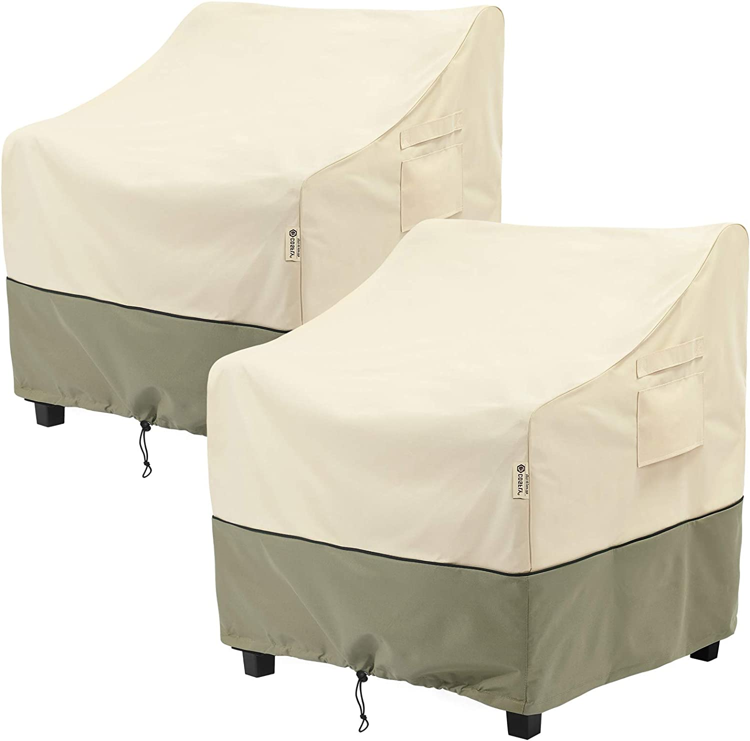 Lawn Furnitures Covers Fits up to 33W x 34D x 31H inches 2 Pack Lounge Deep Seat Cover COSFLY Outdoor Furniture Patio Chair Covers Waterproof Clearance