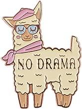 TeesAndTankYou No Drama Llama Enamel Cute Pin