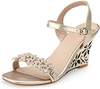 a201b02f4c32 Collocation-Online 2018 Big Size 33-43 Women Shoes Summer Sandals Fashion  Hollow Wedges